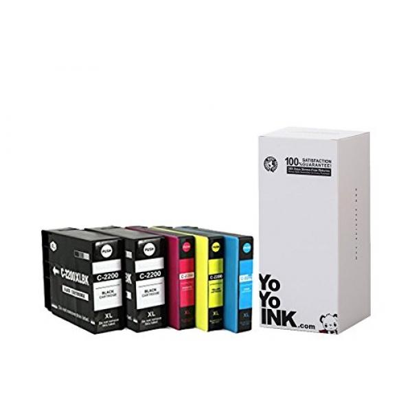 Compatible Canon PGI-2200 XL High Yield Ink Cartridges: 2 Black