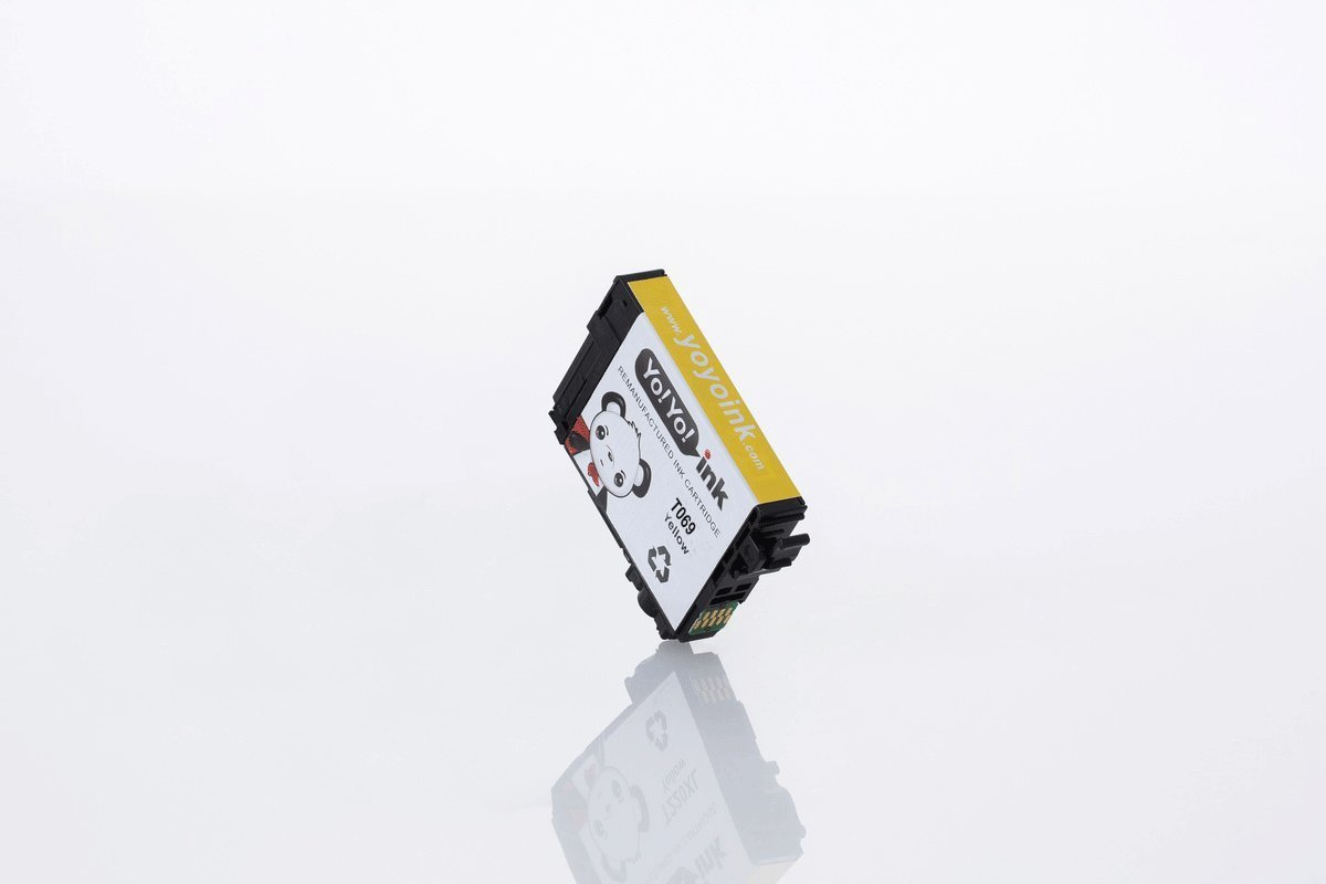 Remanufactured Epson 69 XL High Yield Ink Cartridges: 4 Black