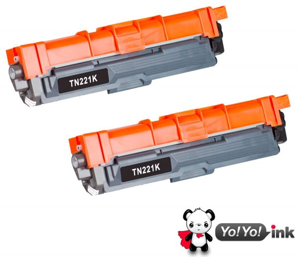 Compatible Brother TN221 Black High Yield Toners (2 Black)