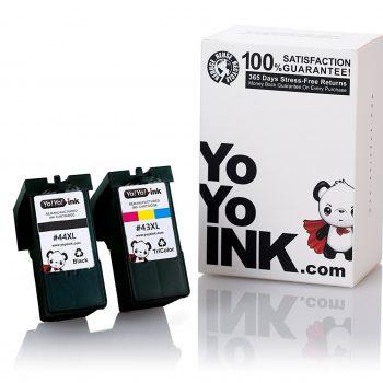 Remanufactured Lexmark 44XL 18Y0144 Black & 43XL 18Y0143 Tri-Color High Yield Ink Cartridge (1 Black