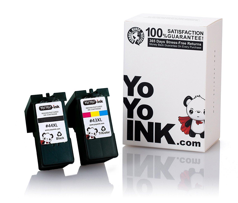 Remanufactured Lexmark 44XL 18Y0144 Black 43XL 18Y0143 Tri Color High Yield Ink Cartridge
