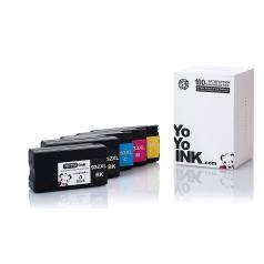 Remanufactured Hewlett Packard (HP 950XL / 951XL) High Yield Ink Cartridges: 1 Black