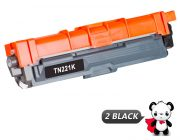 Compatible Brother TN221 / TN225 High Yield Toners : 2 Black & 1 each of Cyan / Magenta / Yellow (5 Pack)