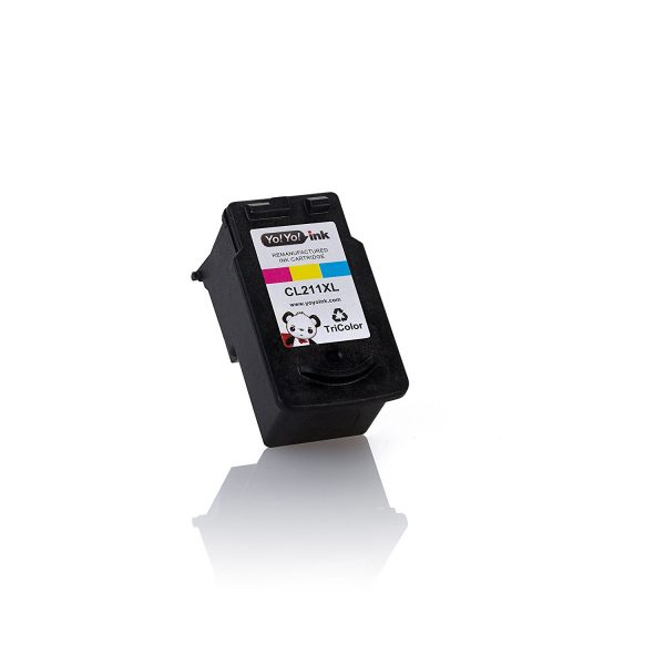 Remanufactured Canon PG-210XL Black & CL-211XL Tri-Color High Yield Ink Cartridge (1 Black