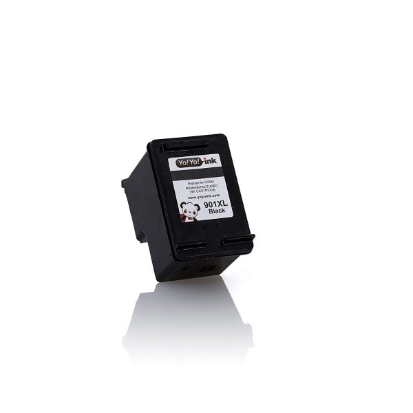 Remanufactured Hewlett Packard (HP 901XL) CC654AN Black High Yield Ink Cartridge (2 Black)