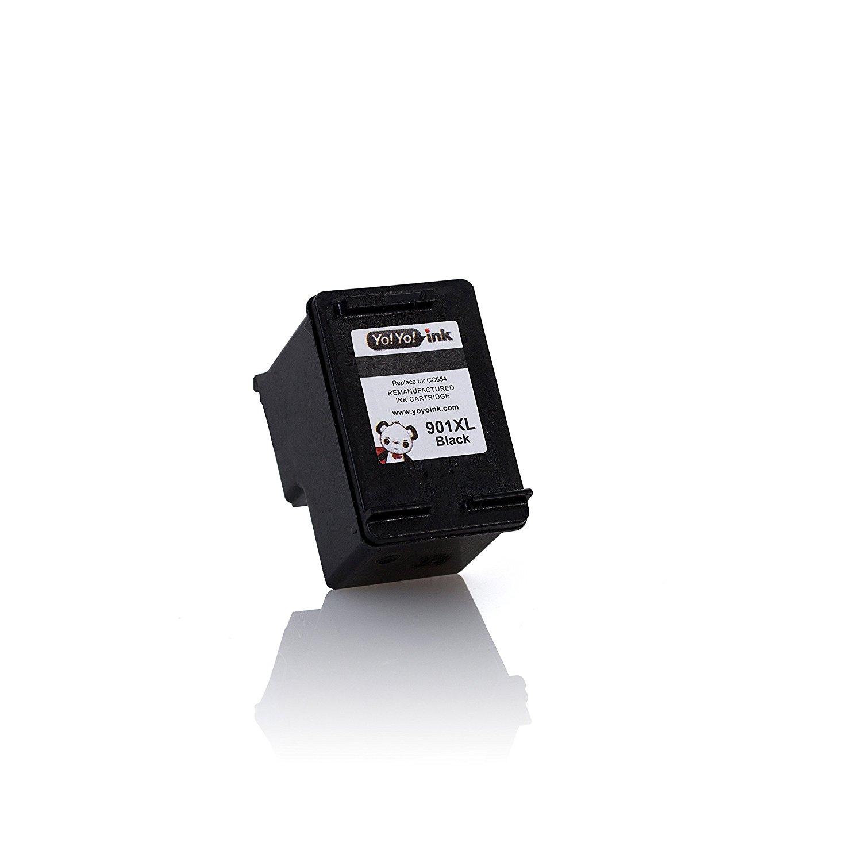 Remanufactured Hewlett Packard (HP 901XL) CC654AN Black High Yield Ink Cartridge (2 Black)