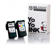 Remanufactured Lexmark 36XL 18C2170 Black & 37XL 18C2180 Tri-Color High Yield Ink Cartridge (1 Black