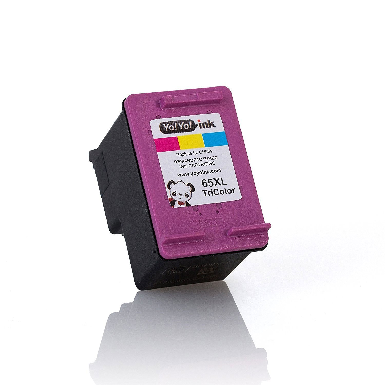 Hewlett Packard (HP 65XL Combo) N9K04AN Black & N9K03AN Tri-Color (High Yield) Replacement Ink Cartridge (2 Black