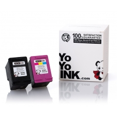 Remanufactured Hewlett Packard (HP 63XL Combo) F6U64AN Black & F6U63AN Tri-Color High Yield Ink Cartridge (1 Black