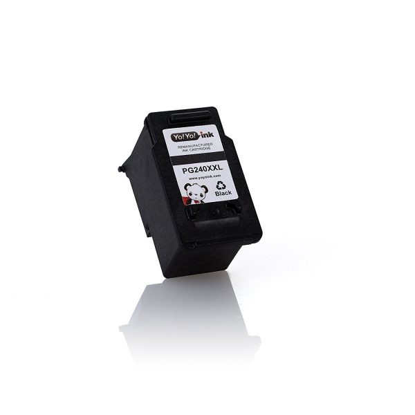 Remanufactured Canon PG-240 XXL High Yield Black Ink Cartridge Replacement (2 Black)
