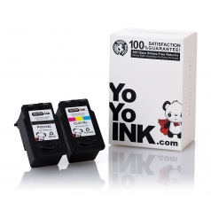 Canon PG-210 XL Bk & CL-211 XL Color Remanufactured Printer Ink Cartridges