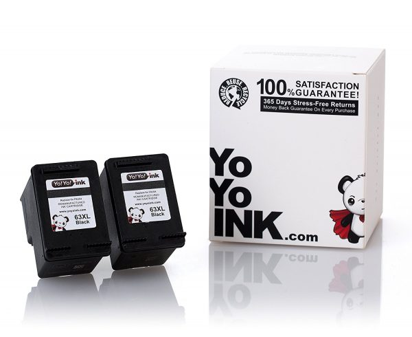 Remanufactured Hewlett Packard (HP 63XL) F6U64AN Black High Yield Ink Cartridge (2 Black)