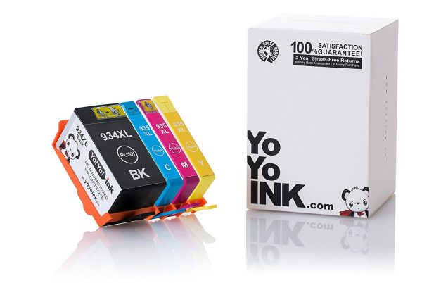 Remanufactured Hewlett Packard (HP 934 XL / 935XL) High Yield Ink Cartridges: 1 Black