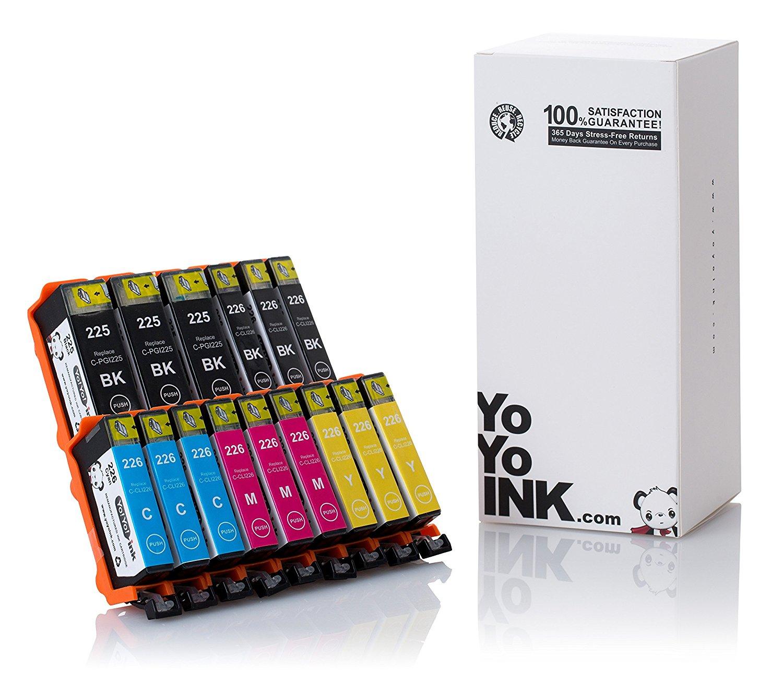 CLI-226 Compatible Ink Cartridge For Pixma iP4820//iP4920//iX6520//MG5120//MG5220//MG5320//MX712//MX882//MX892 30 Pack PGI-225