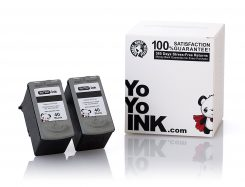 Remanufactured Canon PG-40 Black Ink Cartridge (2 Black)