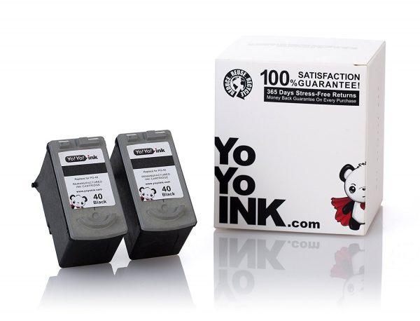 Remanufactured Canon PG-40 Black Ink Cartridge (2 Black)