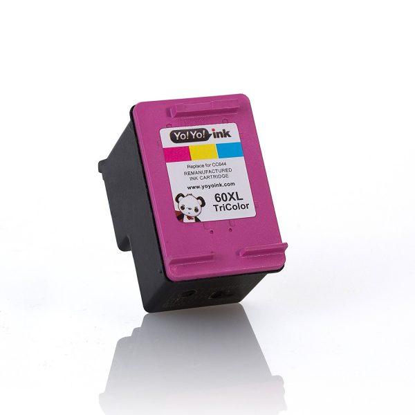 Remanufactured Hewlett Packard (HP 60XL Combo) CC641WN Black & CC644WN Tri-Color High Yield Ink Cartridge (1 Black