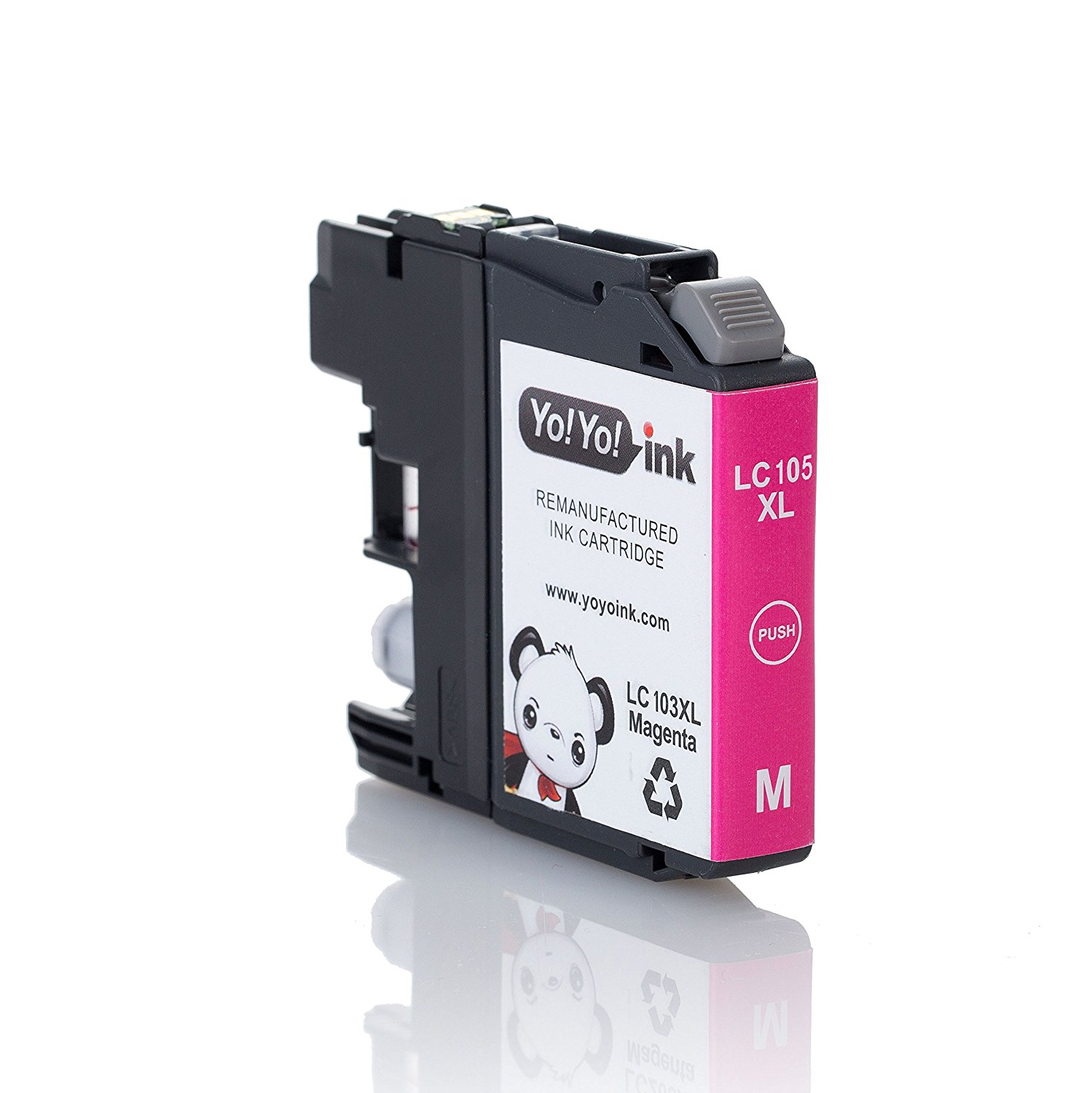 Compatible Brother LC107 / LC105 XXL Super High Yield Ink Cartridges: 4 Black & 2 each of Cyan / Magenta / Yellow (10 Pack)