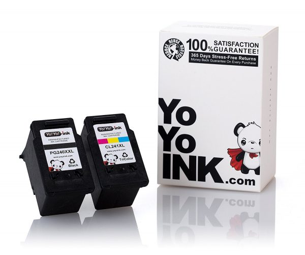 Remanufactured Canon PG-240XXL Black & CL-241XL Tri-Color Super High Yield Ink Cartridge (1 Black
