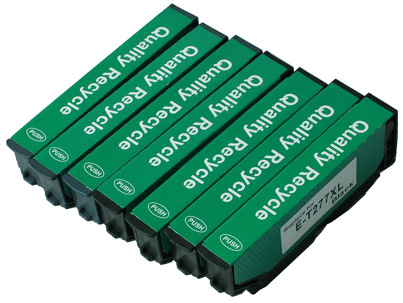Remanufactured Epson 277 XL High Yield Ink Cartridges: 2 Black 1 Cyan 1 Magenta 1 Yellow 1 Light Cyan 1 Light Magenta (7 Pack)