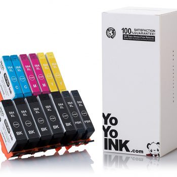 Remanufactured Hewlett Packard (HP 564XL) High Yield Ink Cartridges: 5 Black & 2 each of Cyan / Magenta / Yellow (10 Pack)