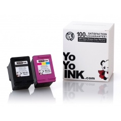 Remanufactured Hewlett Packard (HP 901XL Combo) CC654AN Black & CC656AN Tri-Color High Yield Ink Cartridge (1 Black