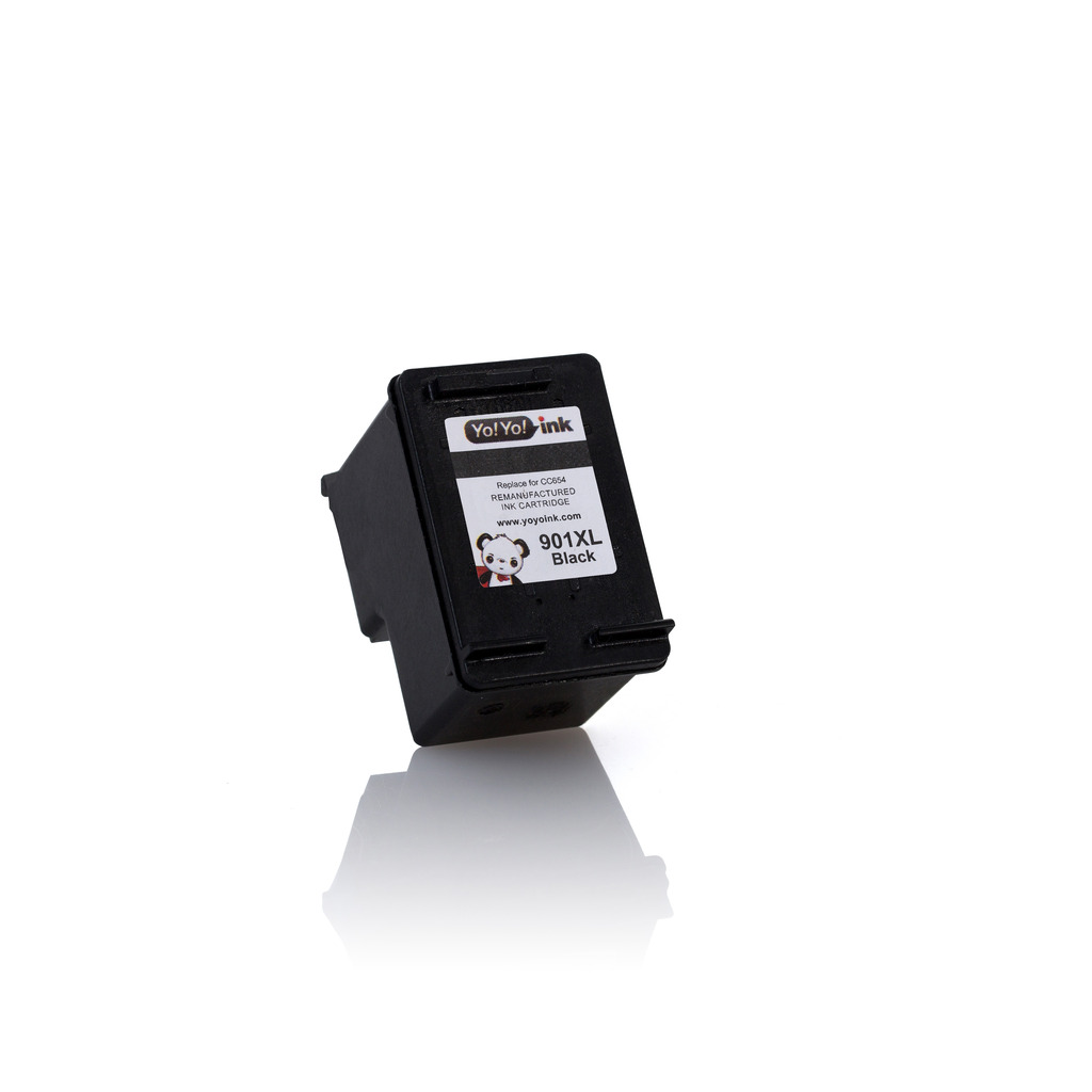 Remanufactured Hewlett Packard (HP 901XL Combo) CC654AN Black & CC656AN Tri-Color High Yield Ink Cartridge (1 Black