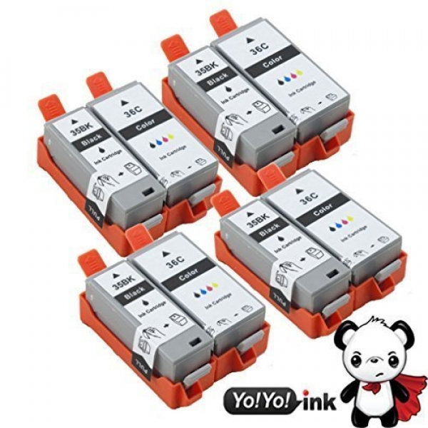 Canon PGI-35 CLI-36 Color Compatible Printer Ink Cartridges