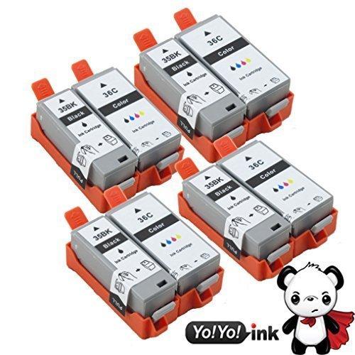 Compatible Canon (PGI-35 & CLI-36) High Yield Ink Cartridges (4 Black