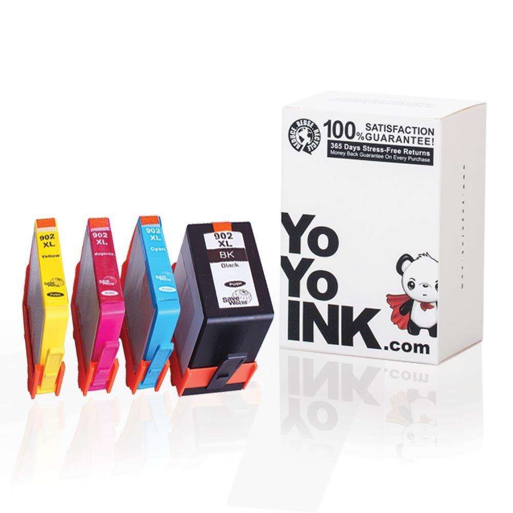 Remanufactured Hewlett Packard (HP 902) High Yield Ink Cartridges: 1 Black