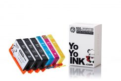 Remanufactured Hewlett Packard (HP 564XL) High Yield Ink Cartridges: 3 Black