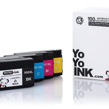 Remanufactured Hewlett Packard (HP 950XL / 951XL) High Yield Ink Cartridges: 1 Black