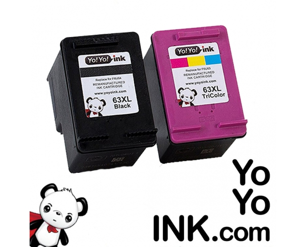 remanufactured HP 63XL ink cartridge