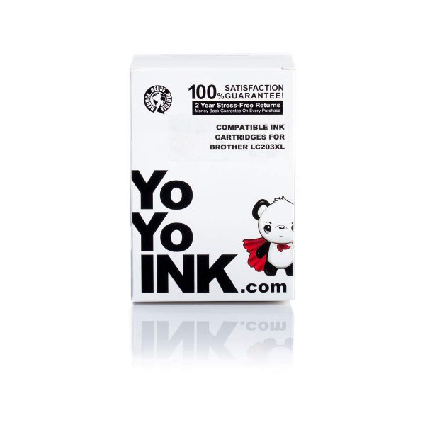 YoYoInk 5 Pack Compatible Ink Cartridge Replacement Brother LC-203XL LC203 (2 Black
