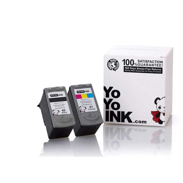 YoYoInk Remanufactured Ink Cartridges Replacement for PG 40 & CL 41 (1 Black