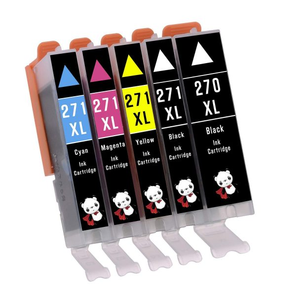 YoYoInk 5 Pack Compatible Ink Cartridge Replacement for PGI-270 & CLI-271 (1 Black