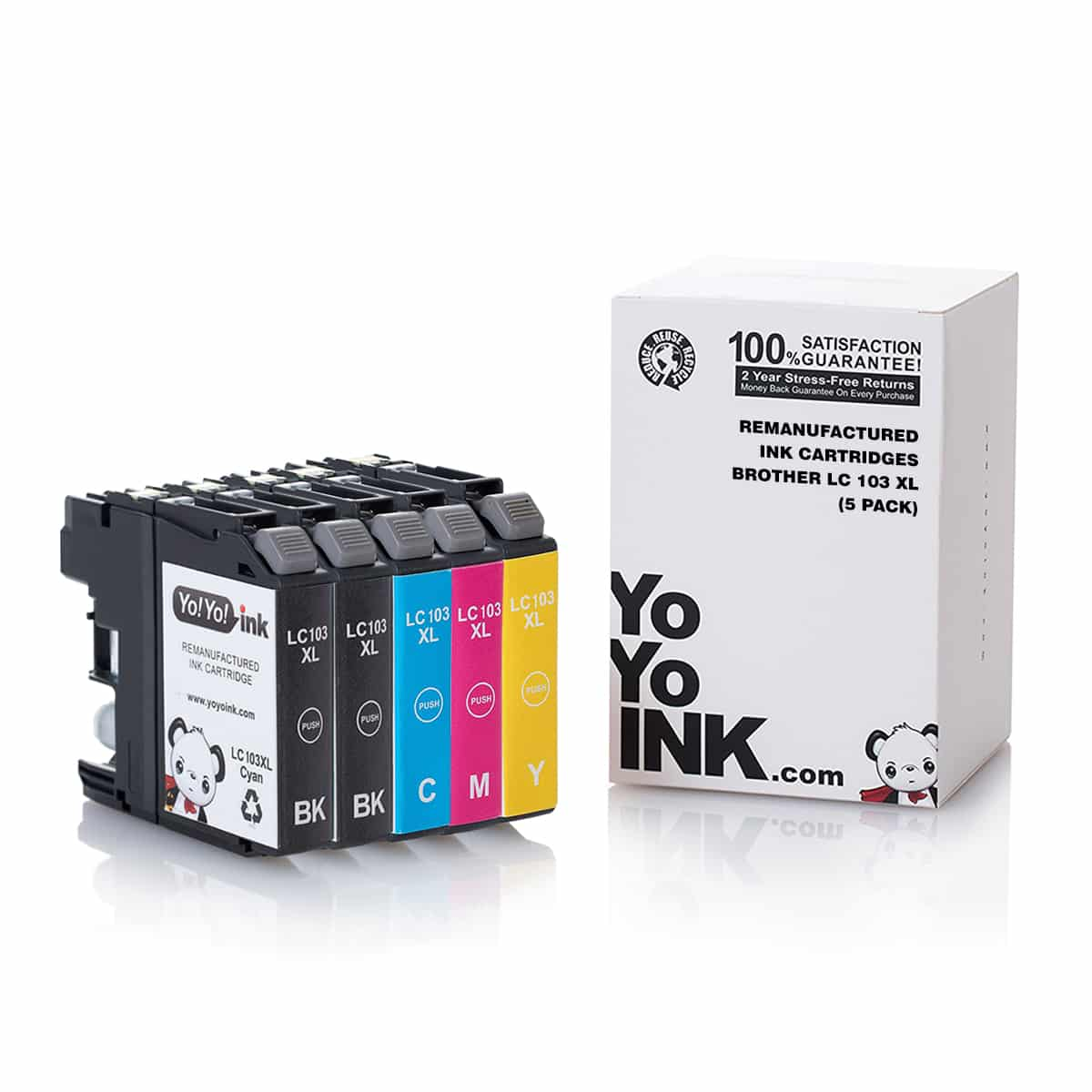Wolfgray LC103 Compatible Ink Cartridge Replacement for Brother LC103 LC103XL LC-103XL to use with Brother Brother MFC J870DW J450DW J470DW J650DW J475DW J4410DW J4510DW J4710DW J6720DW 6BK+3C+3M+3Y