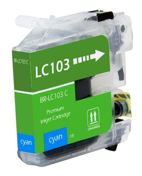 Brother LC103 Cyan Compatible Printer Ink Cartridge