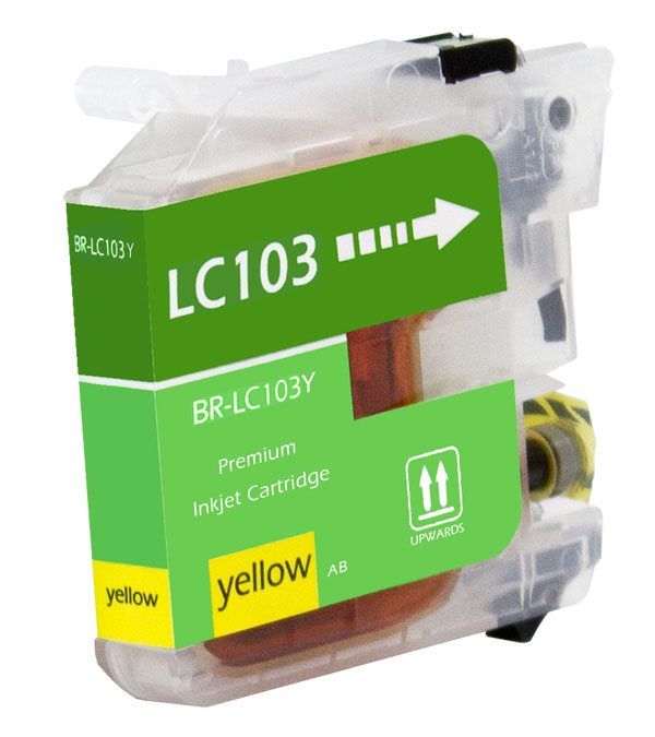 Brother LC103 Yellow Compatible Printer Ink Cartridge