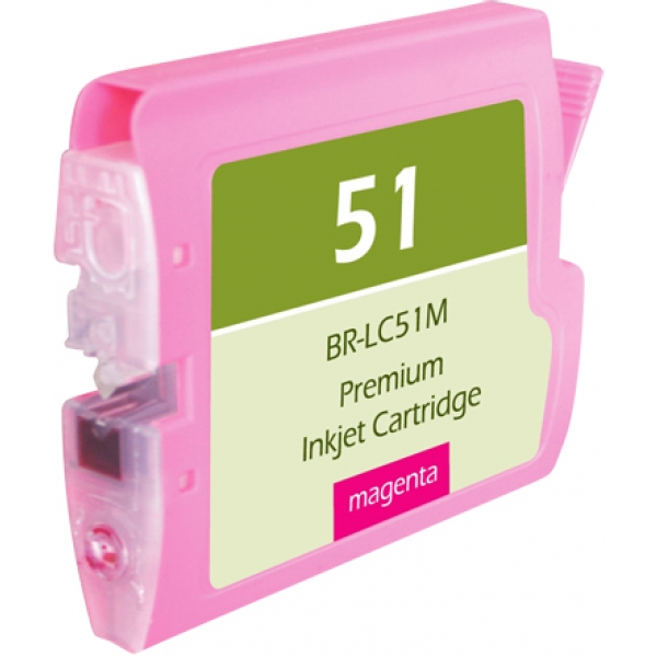 Brother LC51 Magenta Compatible Printer Ink Cartridge
