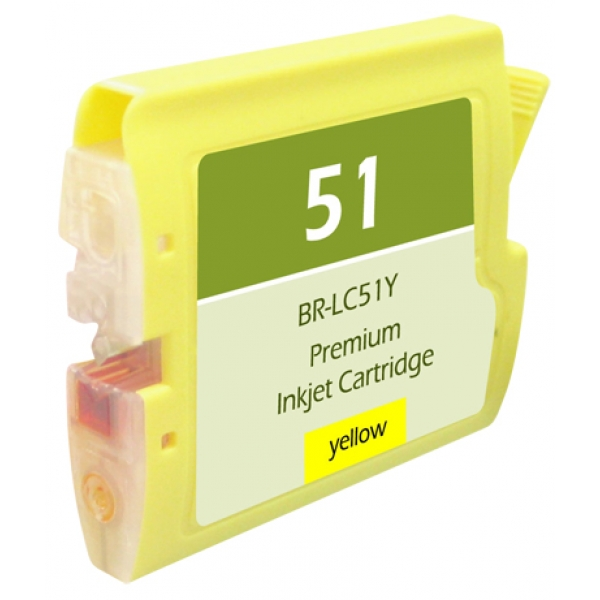 Brother LC51 Yellow Compatible Printer Ink Cartridge