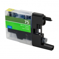 Brother LC75 High Yield Cyan Compatible Printer Ink Cartridge