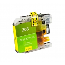Brother LC203 High Yield Yellow Compatible Printer Ink Cartridge