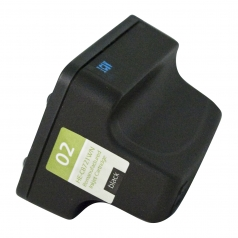 HP02 Black Remanufactured Printer Ink Cartridge