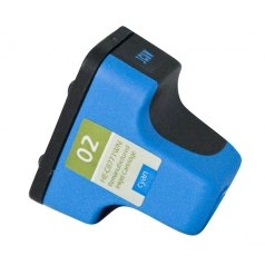 HP02 Cyan Remanufactured Printer Ink Cartridge