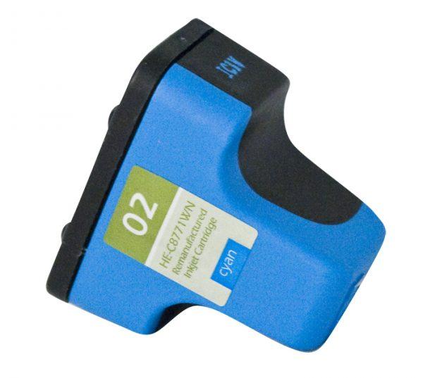 HP02 Cyan Remanufactured Printer Ink Cartridge