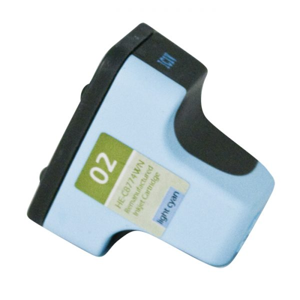 HP02 Light Cyan Remanufactured Printer Ink Cartridge