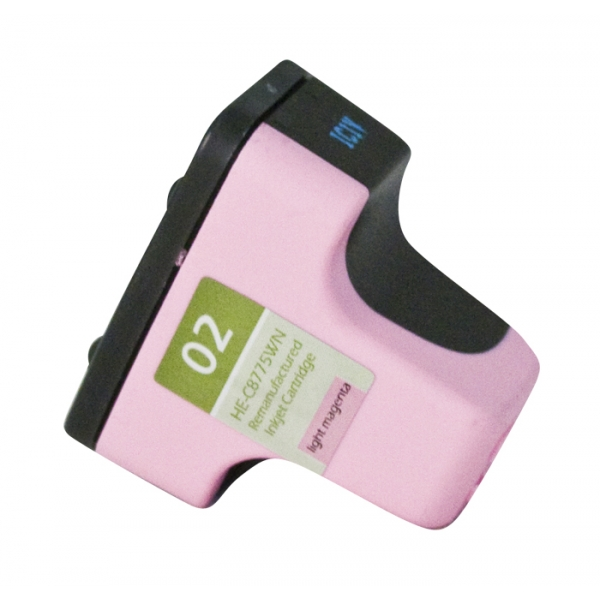HP02 Light Magenta Remanufactured Printer Ink Cartridge