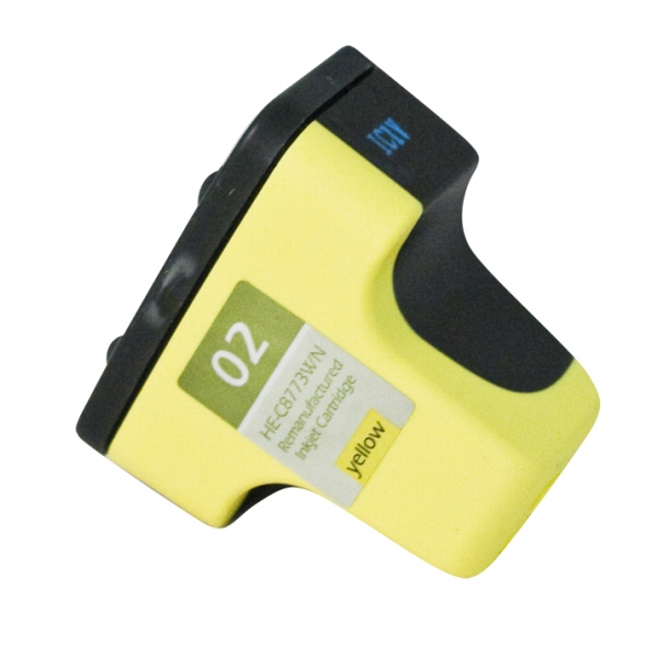 HP02 Yellow Remanufactured Printer Ink Cartridge