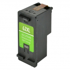 HP62 XL High Yield Black Remanufactured Printer Ink Cartridge